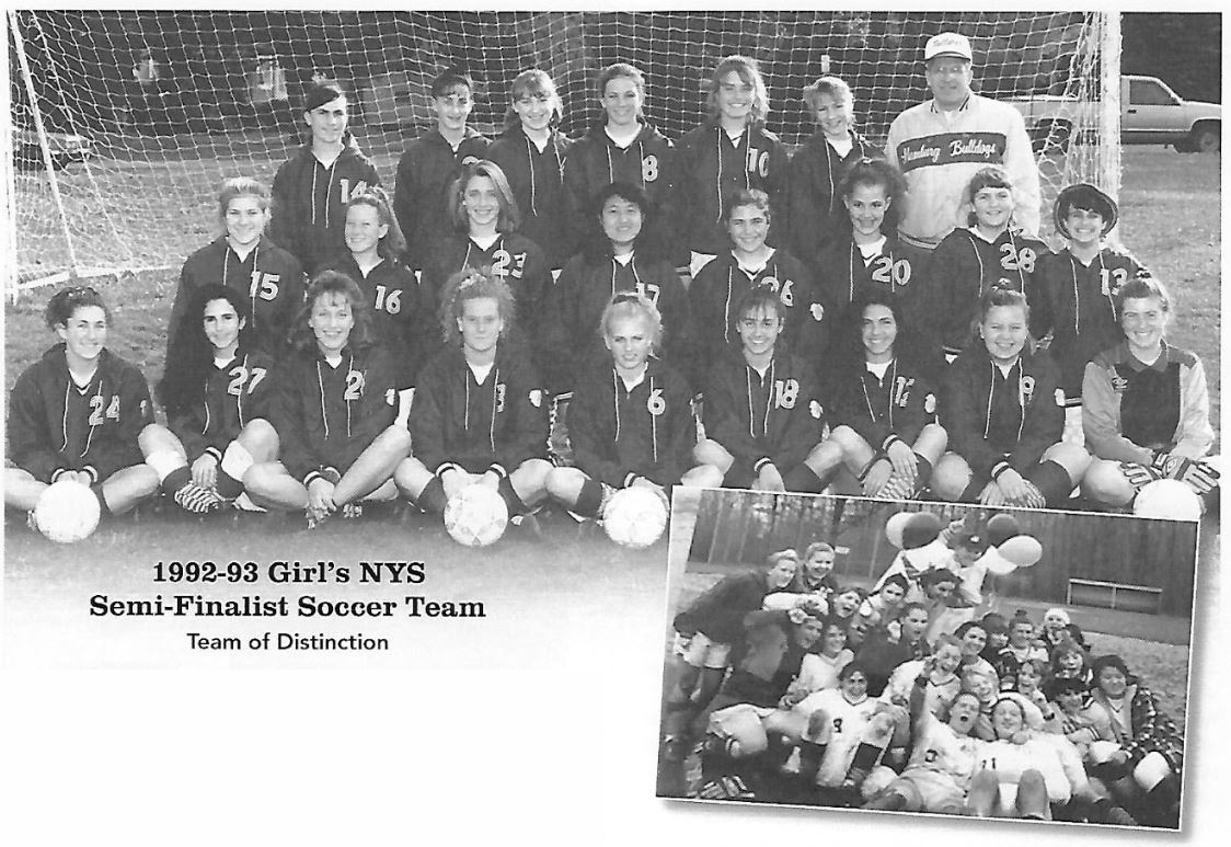1992-93 Girl's NYS Semi-Finalist Soccer Team Team of Distinction