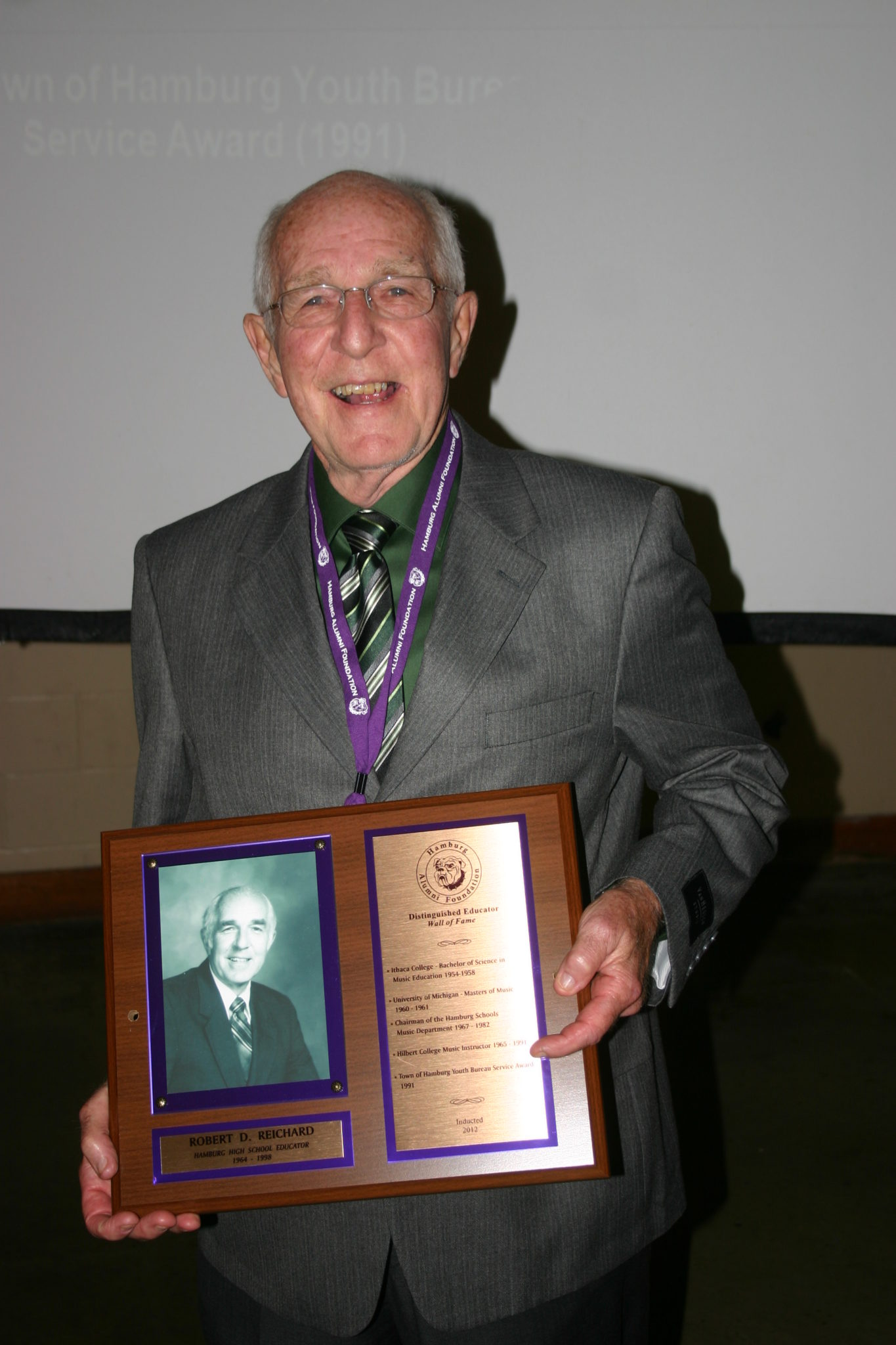 Robert Reichard induction photo